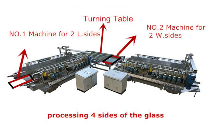 Architecture Glazed Window Glass Processing Equipment Four Sides Glass Grinding And Polishing Machine