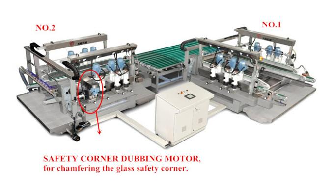Flat Glass Glass Double Edging Machine / Pencil Edger Line For Solar PV Glass Processing