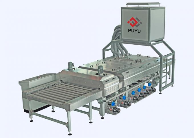 PLC control 1600 mm Glass Washing Machine Before Silk Screen Printing Processing