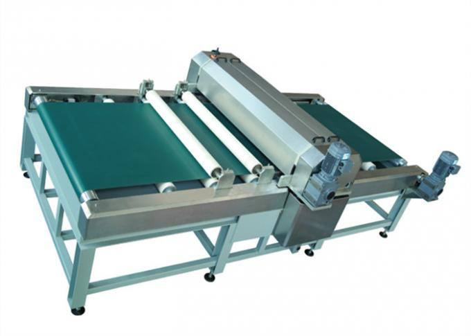 Touch Screen 1.2 m Electric Glass Coating Machine For Flat Glass Roller Coated