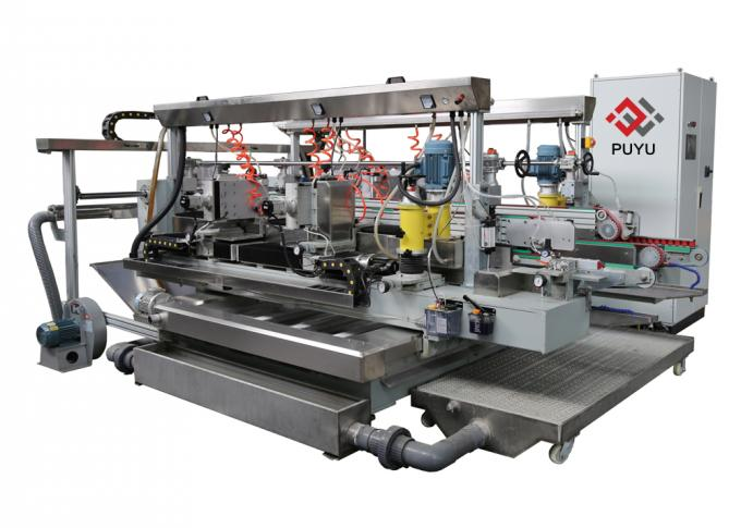 Glass Grinding Machine For Glass Arc R Angle Double Edger / Round Corner