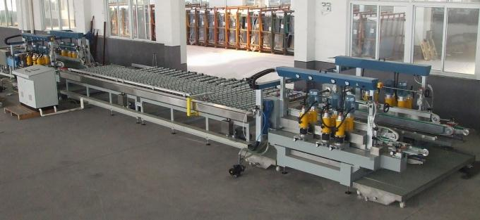 1600 mm Glass Straight Line Edging Machine Double Edger For Solar Glass