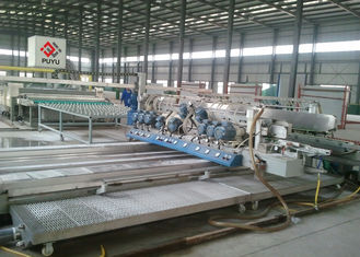 China Omron PLC Structural Glass Double Edging Machine  / Glass Straight Line Edging Machine supplier