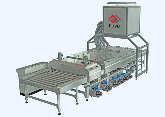 China PLC control 1600 mm Glass Washing Machine Before Silk Screen Printing Processing supplier