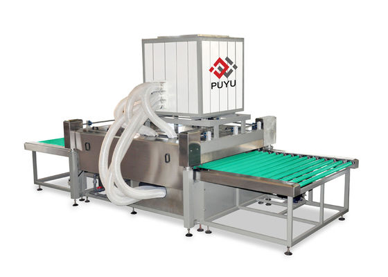 China Construction Glass Washer With 3 Pairs Air Knives , Glass Wash Machines supplier