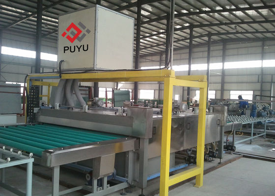 China PLC automatic Glass Washing And Drying Machine For Glass Curtain Wall / Facade Glass supplier
