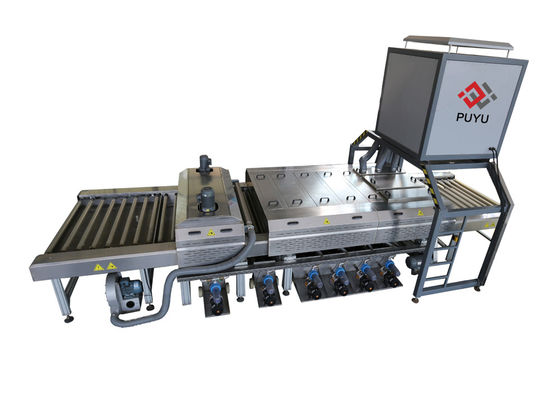 China PLC Glass Washer And Drying Machine With Energy Saving Switch supplier