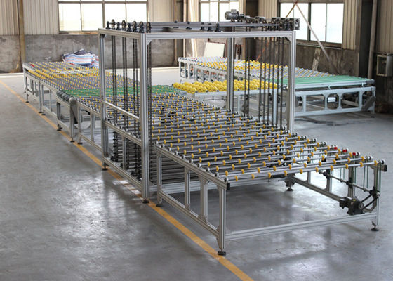 China Toughened Glass Transfer and Turning System With Store Machine For Glass Storage supplier