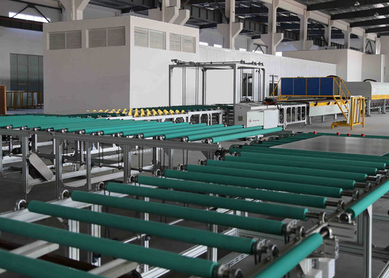 China Transfer and Turning Glass Transport Table Line Between Glass Grinding Machine And Furnace supplier