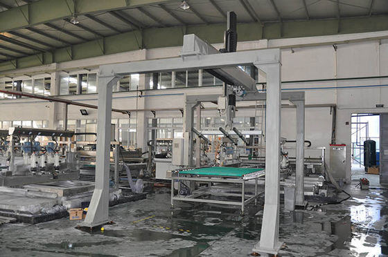 China Omron PLC Control Glass Loading Machine For Flat Glass Processing Line supplier