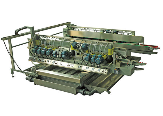 China Construction Glass Grinding Machines Double Edging Machine With 22 ABB Motors supplier