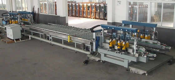 China 1300 mm Flat Glass Edging Machine For Glass Two Sides Straight Line Edges supplier