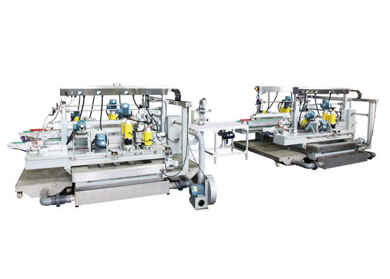 China Automotive Glass 4 Motors Glass Grinding Machine Glass Straight Line Double Edger supplier