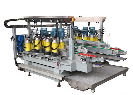China Stainless Steel Material Glass Straight Line Edging Machine 2500 mm with PLC touch screen distributor