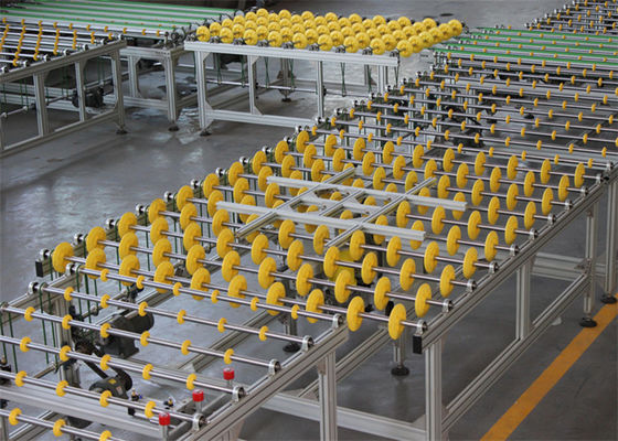 China Glass Transfer and Turning Systems With Spin Table For The Glass Production Line Connection distributor