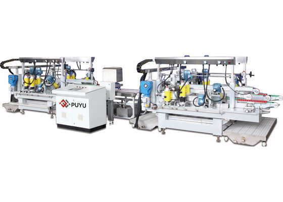 China Automatic Electronic Glass Straight Line Edging Machine With PLC distributor