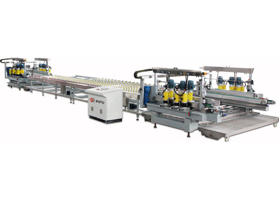 China PLC touch screen Double Glass Edge Grinding machine For Glass Safety Corner distributor