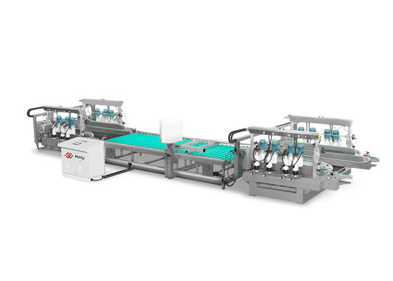 Straight Line Glass Edge Grinding Machine 10 m / min For Solar Photovoltaic Glass