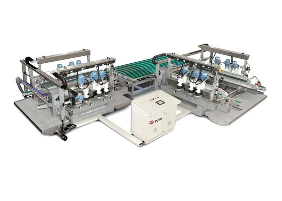 China Straight Line Glass Double Edging Machine For High Polishing Requirments distributor