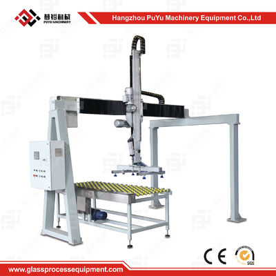 China Fully Automatic Flat Glass Handing Equipment Glass Loading Machine With Safety System distributor