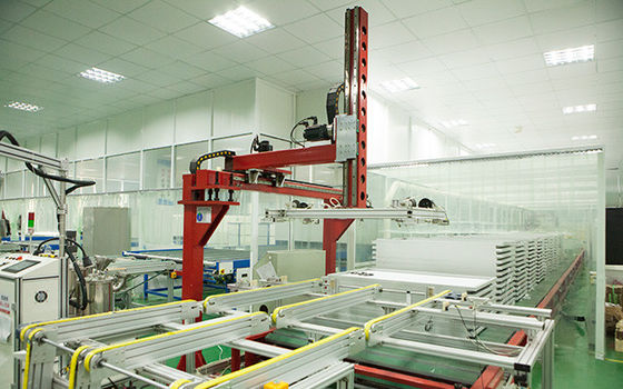 China PV Modules Curing Line Palletizing System Solar Panel Plant For Photovoltaic Sheet distributor