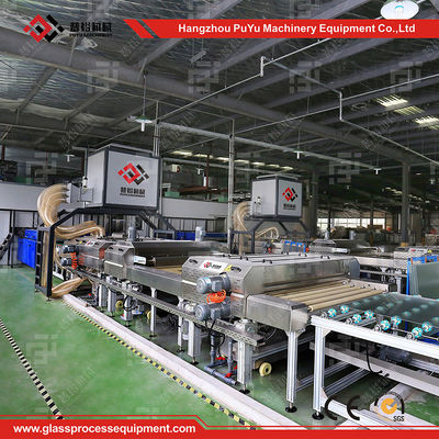 China Horizontal Glass Washing And Drying Machine For Washing Low - E Glass distributor